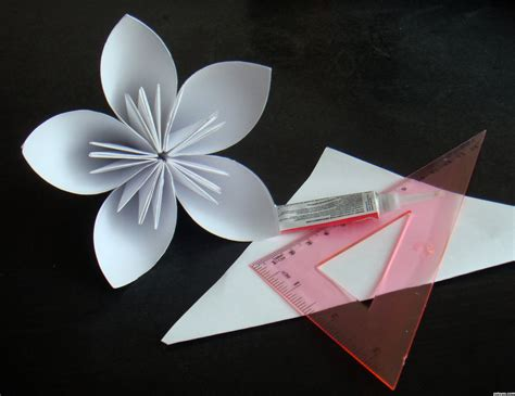 Floral Origami Paper - origami flower picture by ariana4ever for paper usage