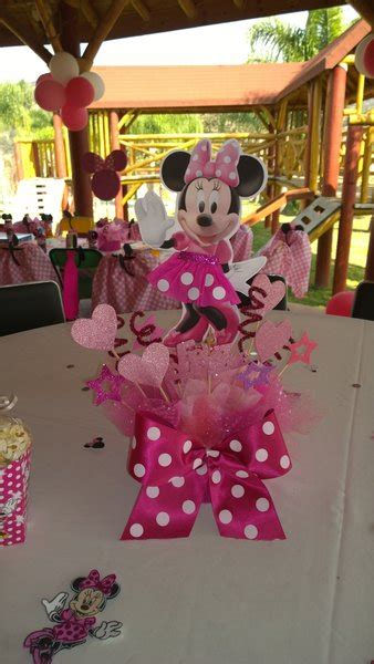 minnie mouse pink centerpiece party decoration birthday