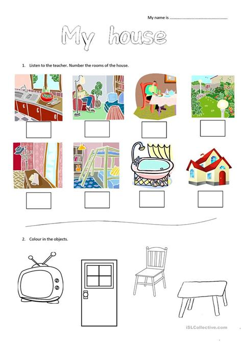 my house printable activities my house worksheet for young learners worksheet free