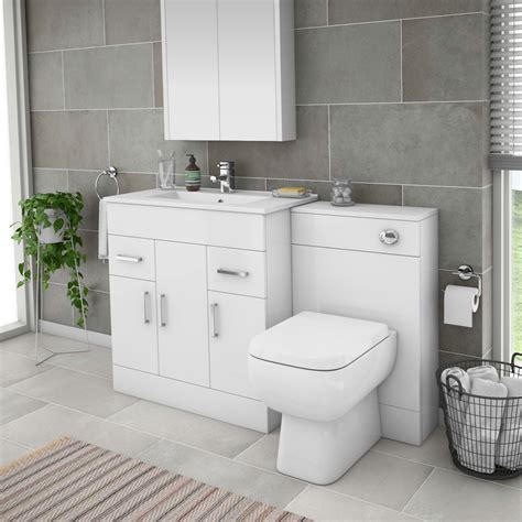 Bathroom Suite With Vanity Unit by Turin 1300mm Gloss White Vanity Unit Bathroom Suite