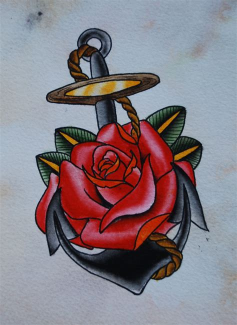 anchor and rose tattoos anchor tattoos designs ideas and meaning tattoos for you