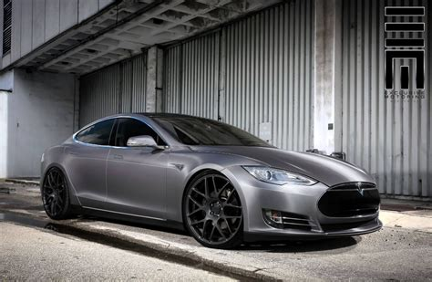 Tesla With Rims Tesla Model S P85d Rocking Gloss Gunmetal Wheels