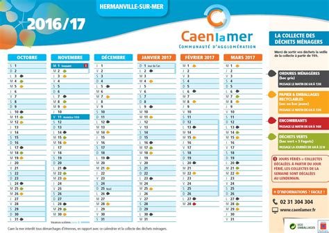 V De V Calendrier Le Calendrier De La Collecte Des D 233 Chets 2016 2017 Est En
