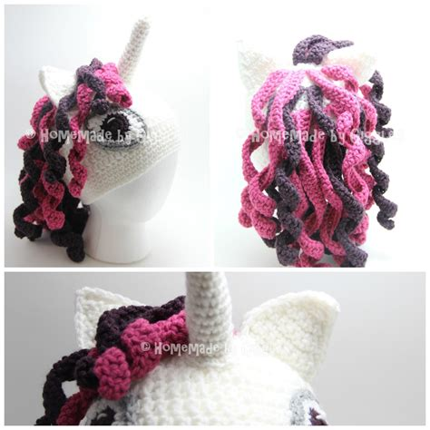 Unicorn Beanie Pattern | homemade by giggles unicorn hat free crochet pattern