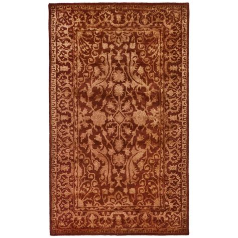road area rug safavieh silk road rust area rug reviews wayfair