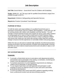 Social Workers Duties And Responsibilities by Sle Social Worker Description 9 Exles In Pdf Word