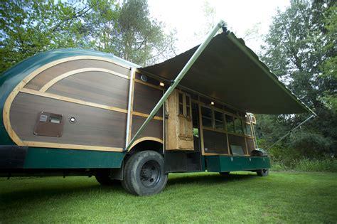 Rv Awning Tent Converted Bus Camper David Dillon Llc