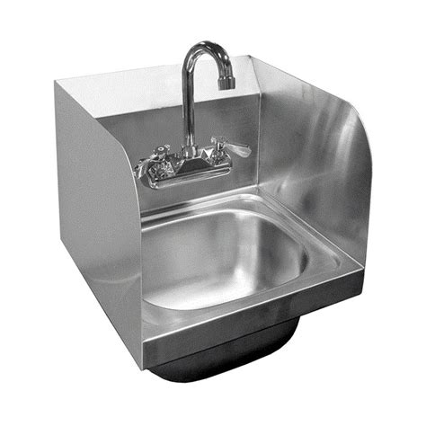 ace stainless steel sinks ace stainless steel wall mount sinks w splash guards