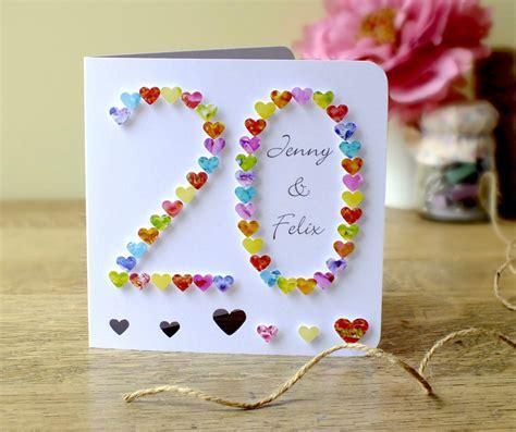 Handmade 3D 20th Wedding Anniversary Card   20th