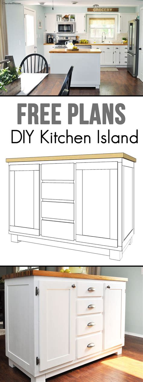 simple kitchen island plans best 25 build kitchen island ideas on build