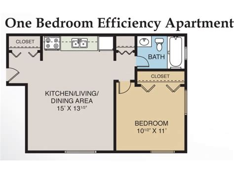 one bedroom efficiency apartment plans 1 bed 1 bath apartment in midland mi eastlawn arms
