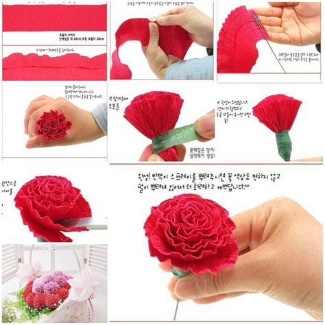 How To Make Crepe Paper Roses Step By Step - diy beautiful crepe paper carnation