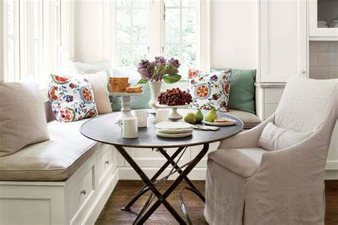 cheery banquette eat in kitchen design ideas southern