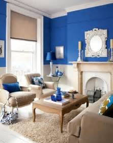royal blue tan white living room room design