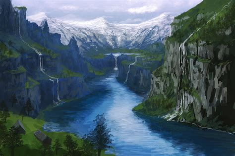 Home Painting Designs by Ricky Westwood Speed Painting Fjord