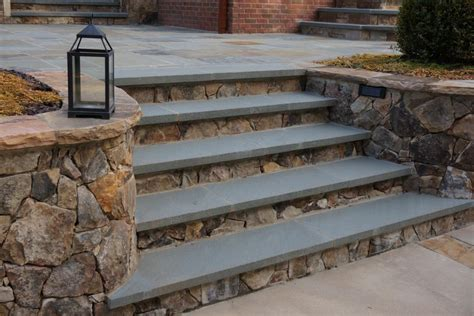 outside steps pennsylvania bluestone treads are placed over tennessee