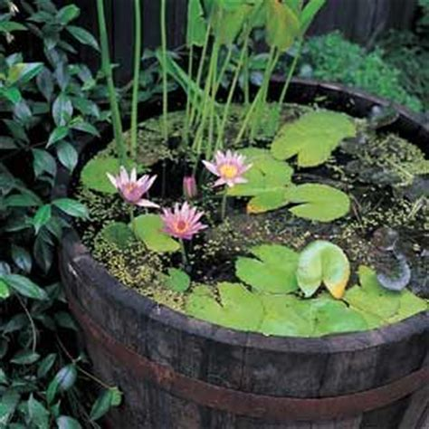 barrel planter with 3 pots resin water feature barrel water garden a pond you can put on a