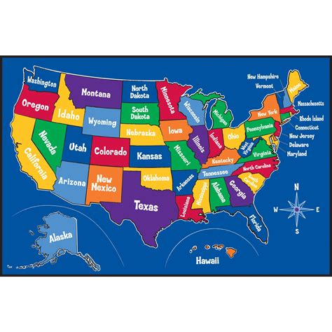us map for kid free map of the united states for