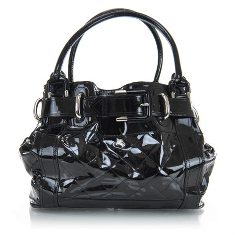 Burberry Quilted Patent Beaton Shopper by Burberry Patent Quilted Beaton Tote Black 30666