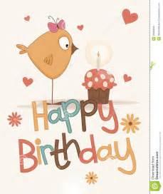 cute happy birthday card royalty free stock photos image