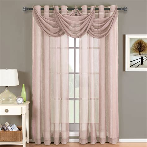 where to buy sheer curtains abri grommet crushed sheer curtain panel ebay