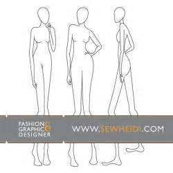 blank model sketch template fashion croquis blank fashion sketches vector
