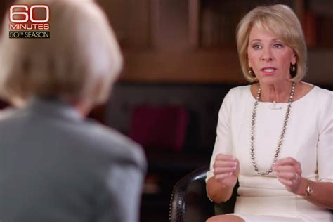betsy devos interview a betsy devos cheat sheet for next 60 minutes interview