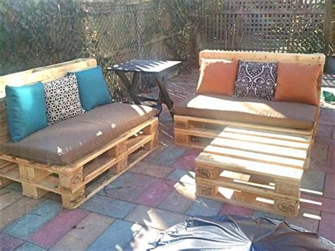 how to make patio furniture out of pallets patio furniture made out of pallets pallet wood projects
