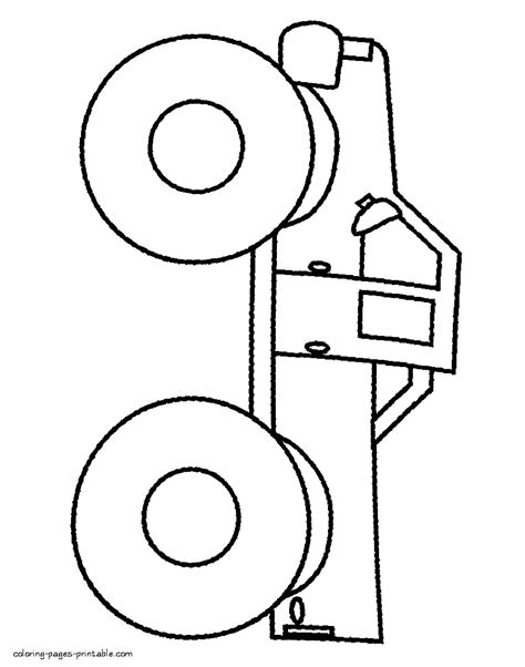 very simple coloring page for boys with car very simple coloring page for preschoolers truck