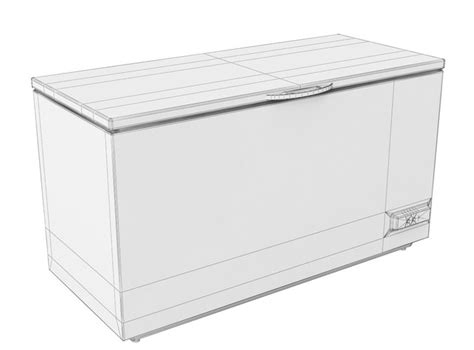 Freezer Box Electrolux electrolux chest freezer 3d model max obj fbx cgtrader