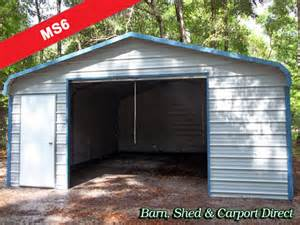 Metal Carport With Attached Shed Fully Enclosed Metal Shed 18 X 26 X 7 Ms6 Barn