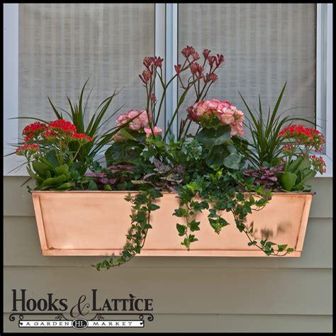 copper window box copper window boxes copper flower box hooksandlattice