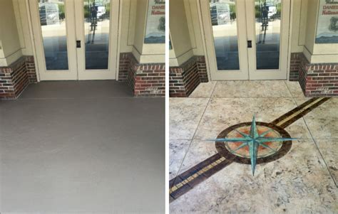Enhance Floors by Business Entryway With Stained Flooring