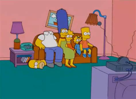 simpsons sitting on couch list of couch gags seasons 16 20 simpsons wiki