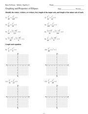 ellipses kuta software infinite algebra 2 name period