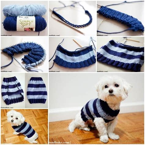 knitting pattern puppy jumper diy easy knitted dog sweater sweaters and jackets