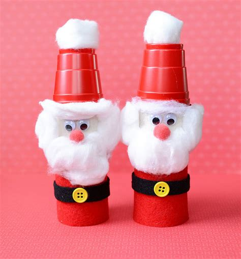 toilet paper santa craft craft for toilet paper roll santas
