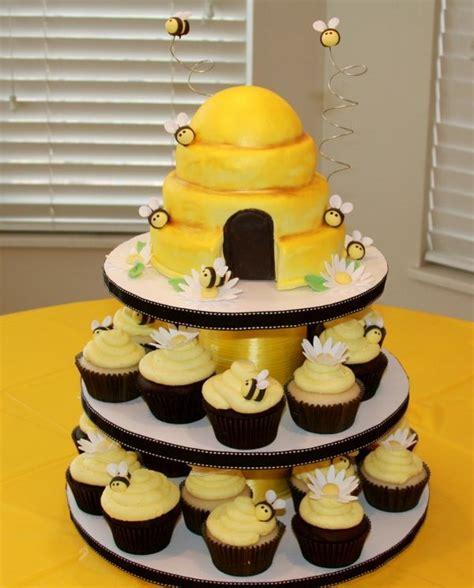 beehive cupcake tower brennan s 1st birthday winnie