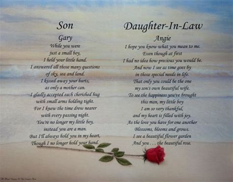 in laws new daughter in law poem google search wedding