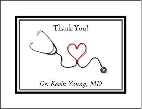 thank you letter for doctor and nurses personalized note or thank you cards doctor