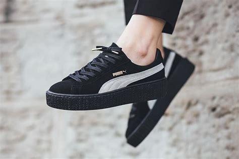 Sneakers Murah Rihana White Black now fenty by rihanna x the creeper black white black available now