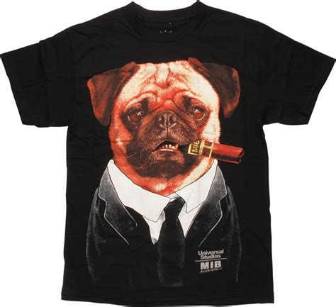black pug t shirt in black frank the pug t shirt