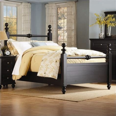 black poster bed homelegance hanna black queen size panel poster bed