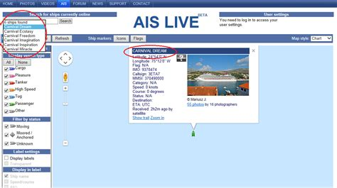 ship ais marine traffic with ais data vessel finder and ship