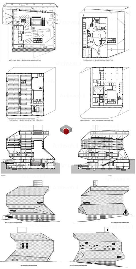 seattle library floor plans rem koolhaas seattle library dwg 2d plans rem koolhaas 2d and seattle