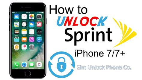 how to unlock sprint iphone 7 by imei from carrier lock and use any carrier sim card