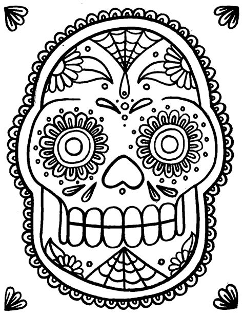 Yucca Flats N M Wenchkin S Coloring Pages Sugar Skull Sugar Skulls Coloring Pages
