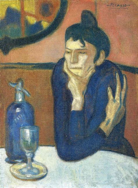 picasso paintings la vie the absinthe drinker 1901 pablo picasso wikiart org