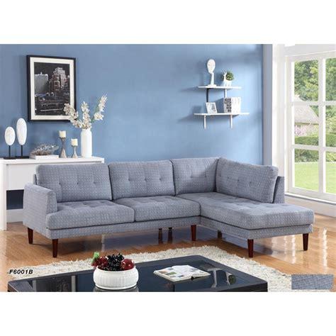 Grey Linen Sectional Sofa by Gray Flint Linen Sectional Sofa Set 2 Sh6001b
