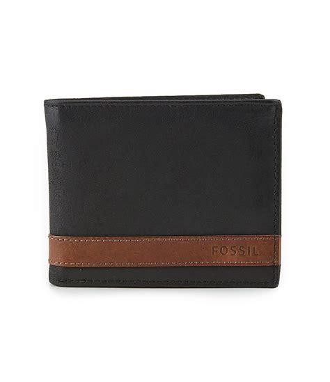 Wallet Fossil Quinn Black Premium fossil quinn flip id bifold wallet dillards